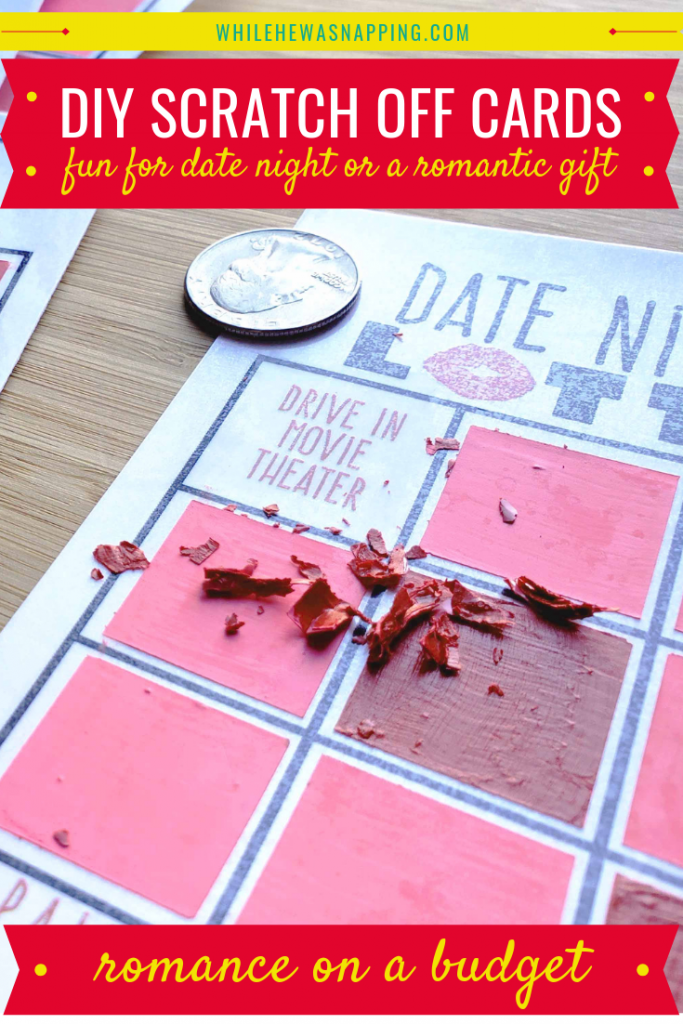 DIY Scratch Off Cards Romance on a Budget