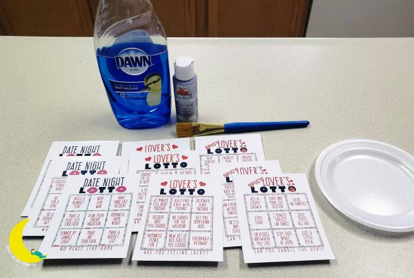 DIY Scratch Off Cards made with simple supplies