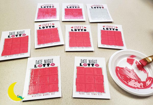 DIY Scratch Off Cards with Acrylic Paint