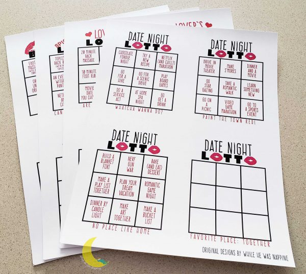 DIY Scratch Off Date Night Cards