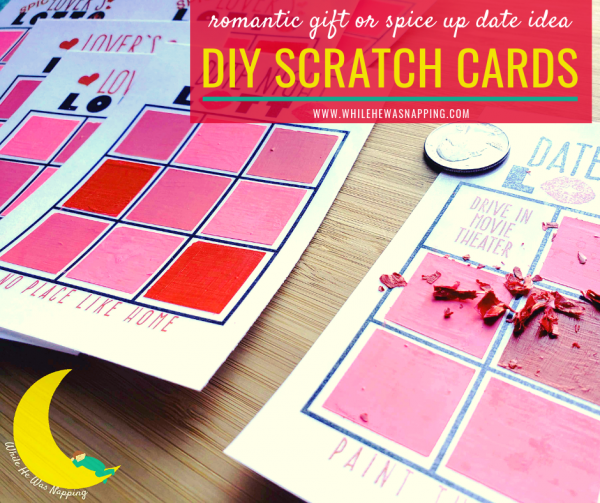 Romantic DIY Scratch Off Cards