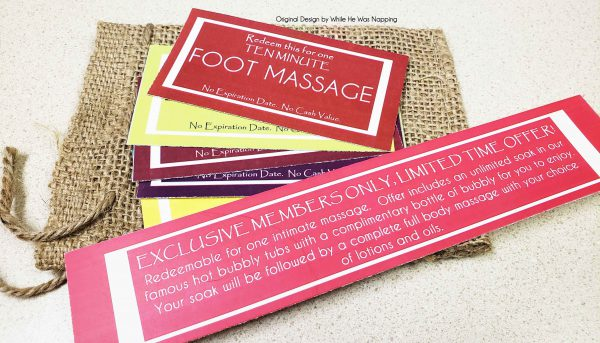Spa Date Night Massage Coupons Printable