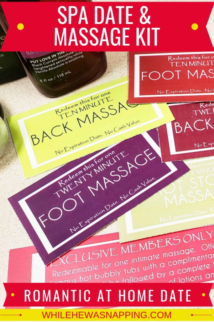 Spa Date & Massage Kit