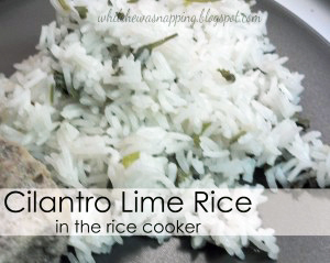 Cilantro Lime Rice in the Rice Cooker
