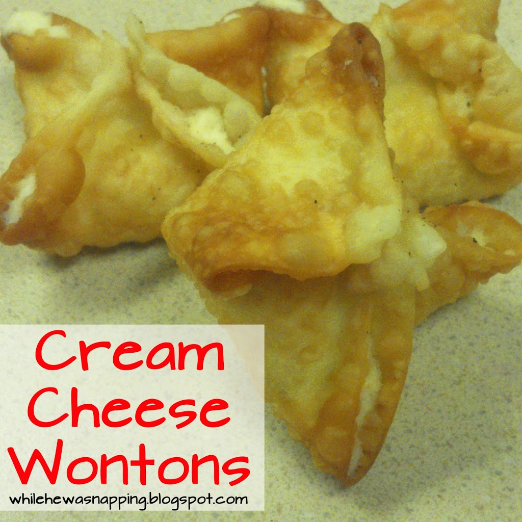 Cream Cheese Won Tons | While He Was Napping