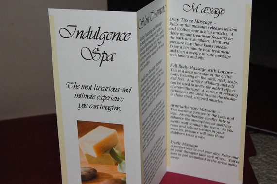 Spa Night Brochure