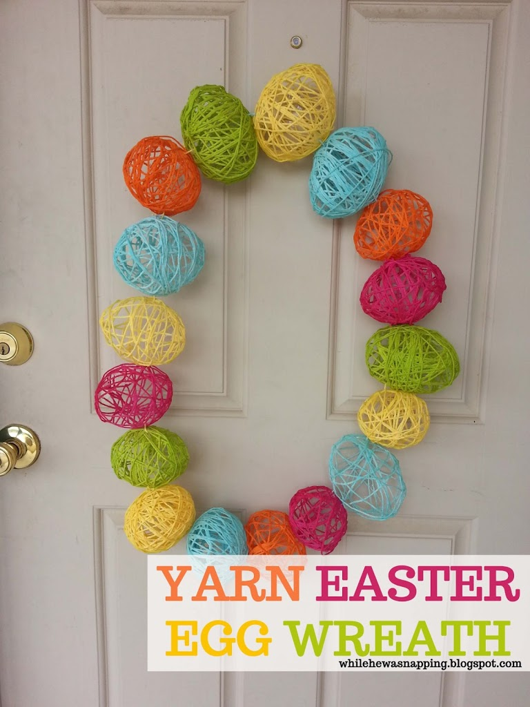 Yarn-Easter-Egg-Wreath