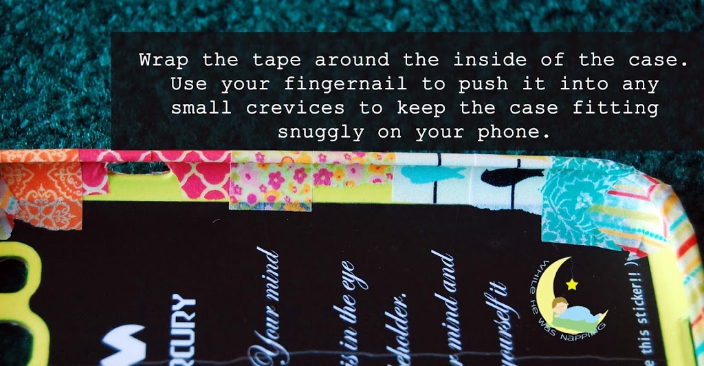 Washi Tape Phone Case How To
