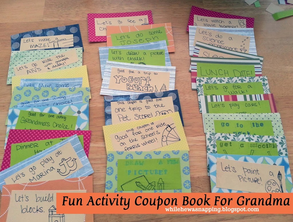 Mom or grandma gift activity coupons free printable while he activity coupons gift for mom or grandma solutioingenieria Choice Image