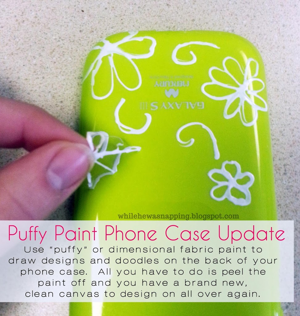 Puffy paint designs - Puffy Paint Cell Phone Case