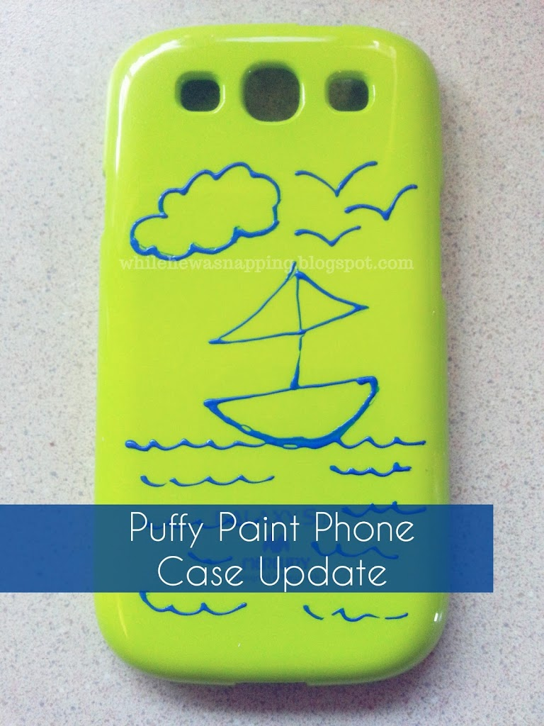 Puffy Paint Cell Phone Case
