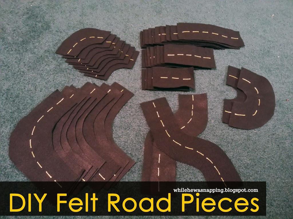 DIY Felt Road