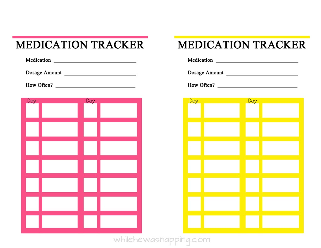 Current image regarding medication tracker printable