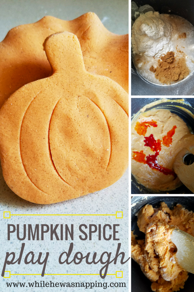 Pumpkin Spice Play Dough is super easy to make and a great sensory play kid's activity for Fall