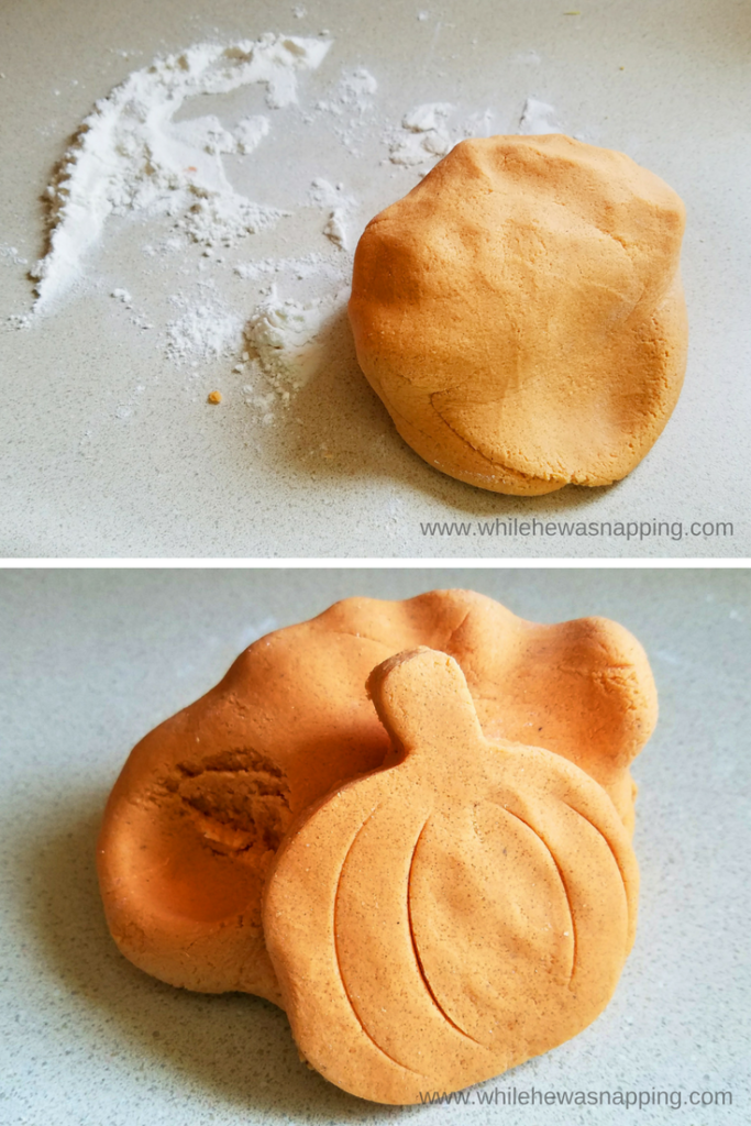 Pumpkin Spice play dough is perfect for sensory play