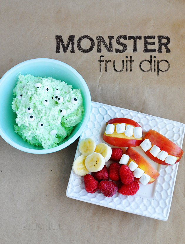 Monster Fruit Dip originally found on Thirty Handmade Days