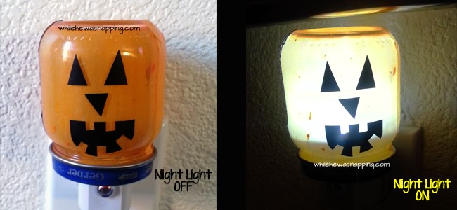 DIY Jack-O-Lantern Night Light