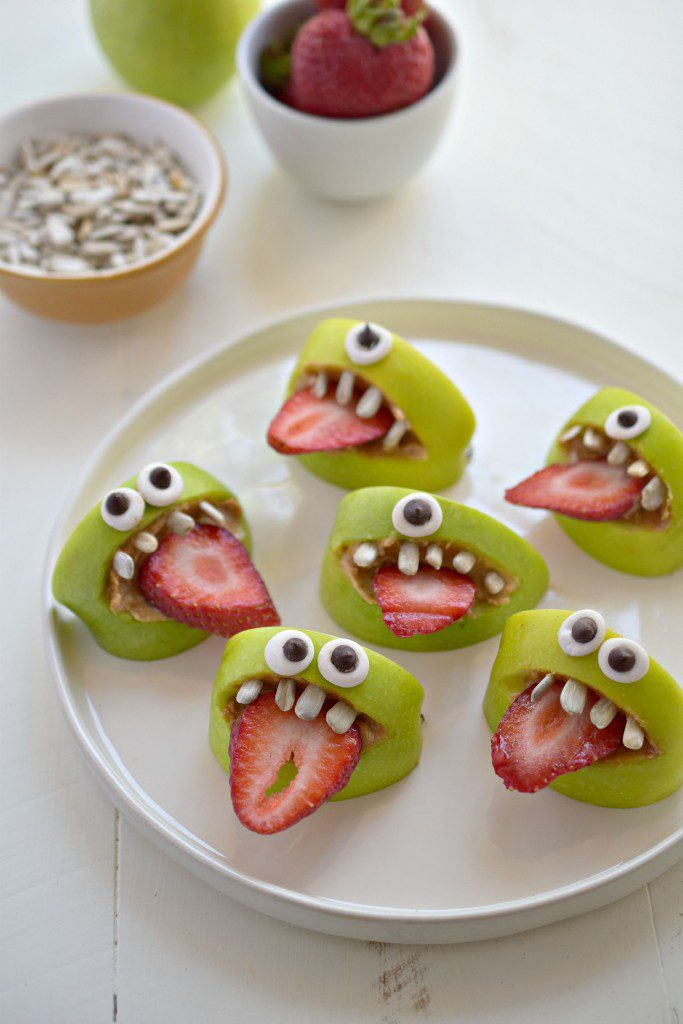 Silly Apple Monsters originally found on Fork and Beans