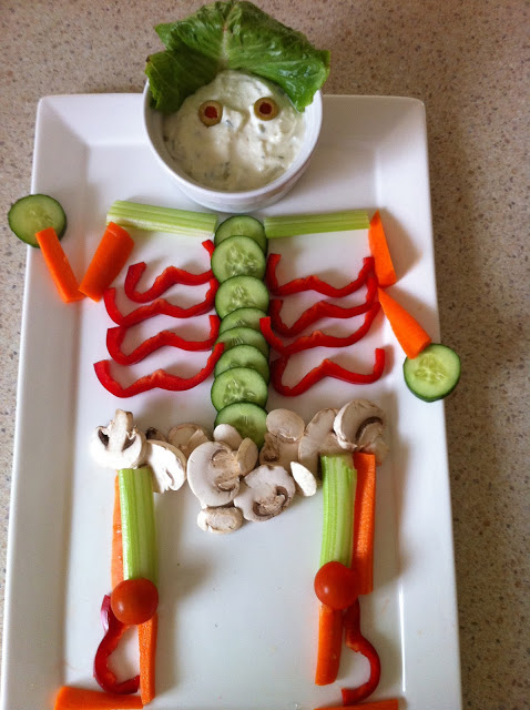 Skeleton Veggie Platter originally found on Clairey Hewitt