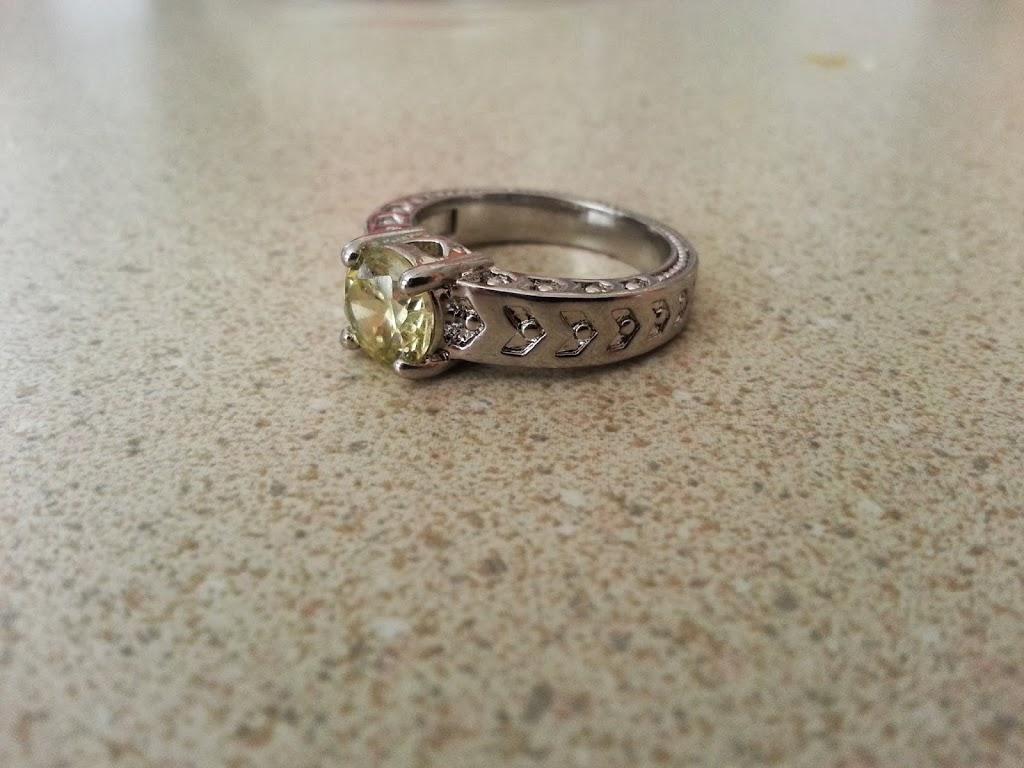 Tiny Diamond Ring Band