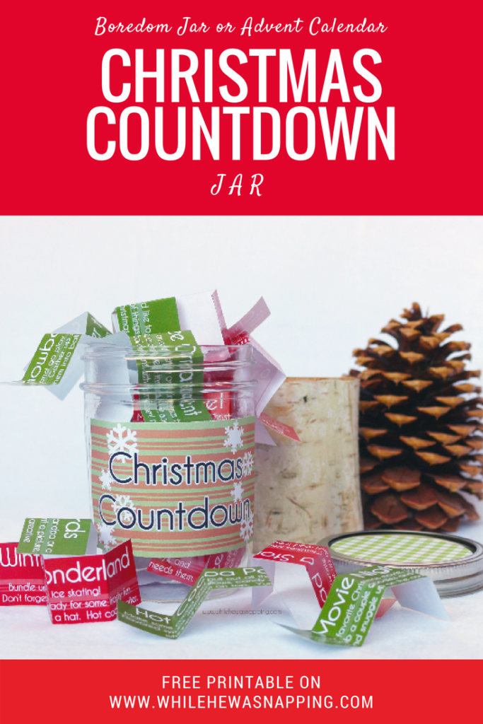 This is a simple and fun way to celebrate the season all month long. Use it as a Boredom Jar or Advent Christmas Countdown.