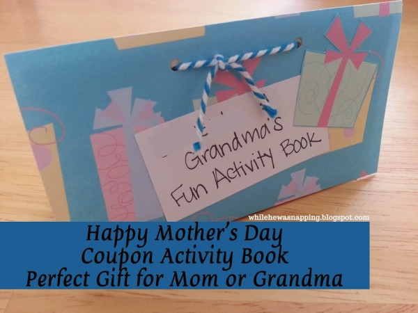 Mother's Day Activity Coupon Book