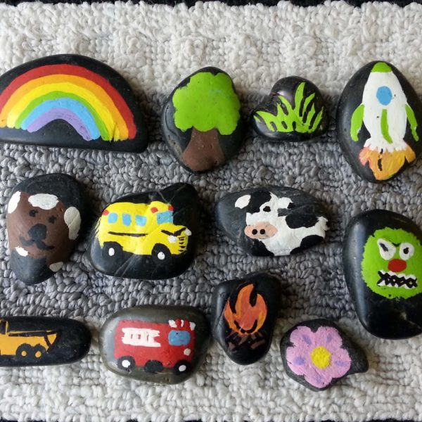 Creating Story Stones are a favorite on this HUGE list of fun Kids Activities