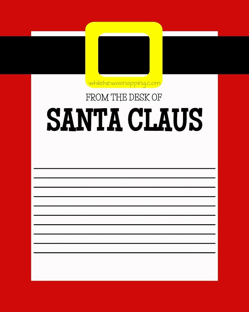This is a picture of Terrible Printable Santa Stationary