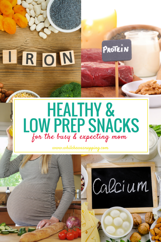 Healthy, Low-Prep Snacks for Expecting Moms. 30+ delicious and simple snacks that will keep your energy up during pregnancy.