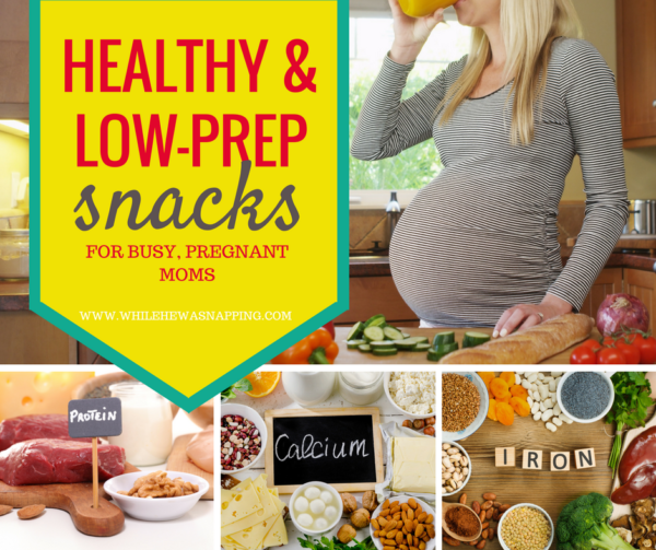 Healthy, Low-Prep Snack ideas for Pregnant Moms. When you're eating every couple hours or less, it can be exhausting to plan out all that food. Make pregnancy a little simpler with these easy, healthy snacking ideas that are good for you and baby!