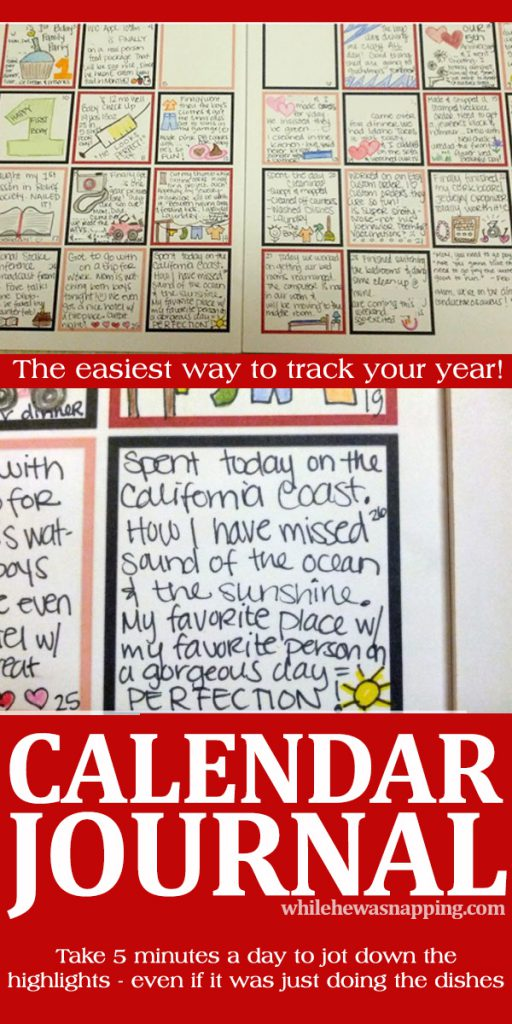 Calendar Journaling is the perfect way to record the little and the big things in life in just 5 minutes a day!