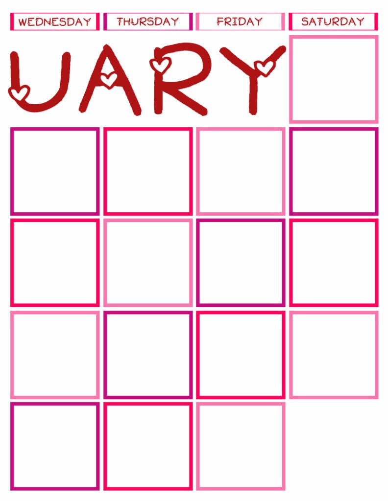 Calendar Journal 2014 Wed-Sat P&P