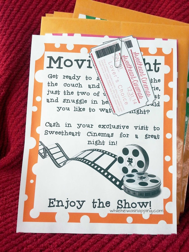 12 Month Date Night Kit: Make this movie night in special with custom tickets