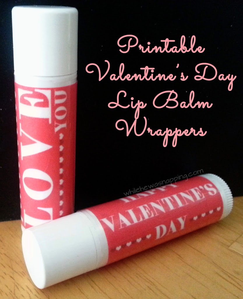 Valentine Lip Balm Wrappers
