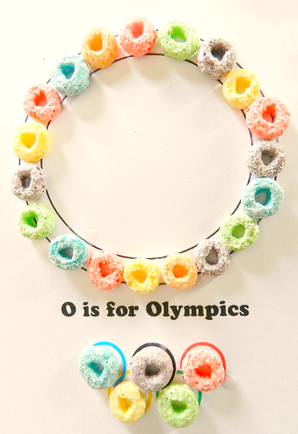 Preschool Letter O is for Olympics Fruit Loop Ring