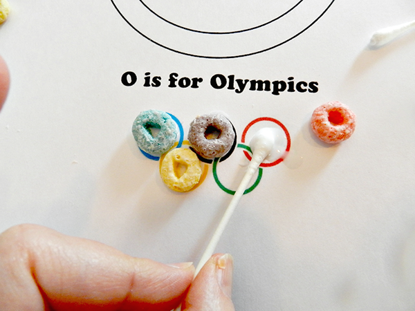 Preschool Letter O is for Olympics Glue