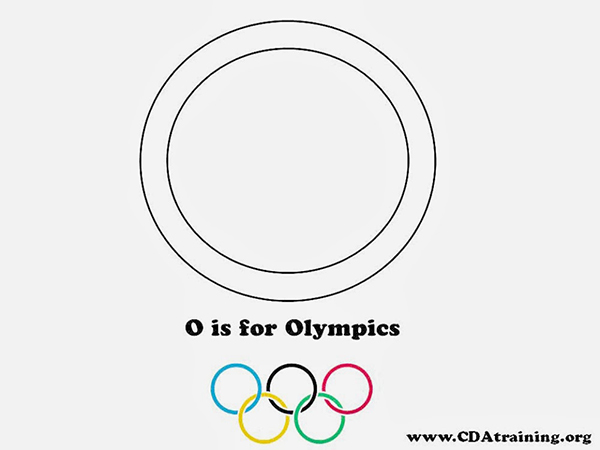 Preschool Letter O is for Olympics template