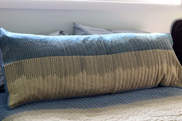 mabey she made it pillow shams to body pillow case while he was napping. Black Bedroom Furniture Sets. Home Design Ideas