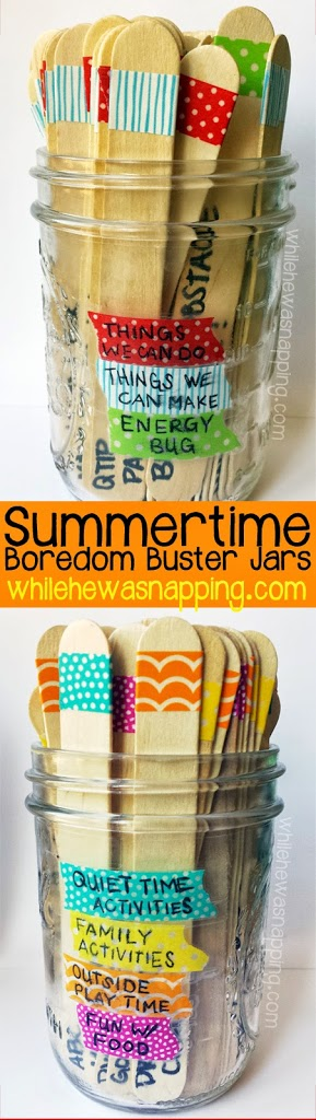 Washi Tape Summer Boredom Buster Jars While He Was Napping