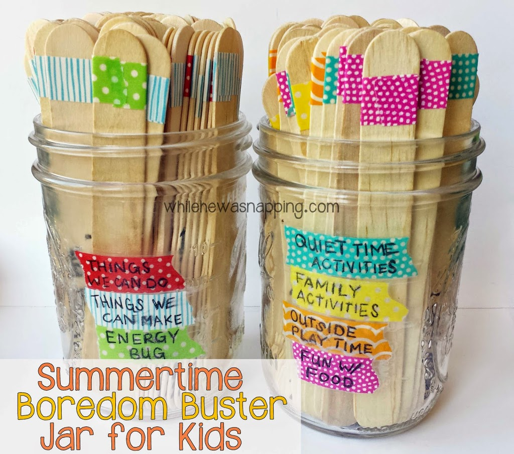 Summer Kids Activities Boredom Jar