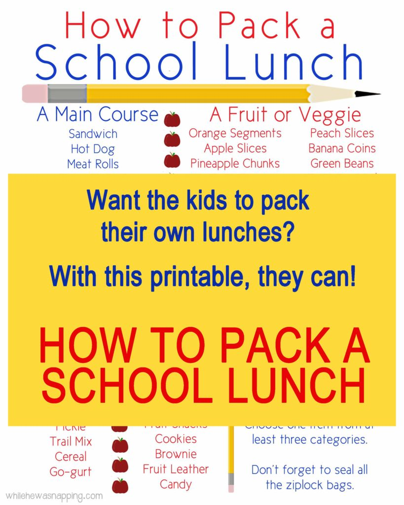 How To Pack A School Lunch LR