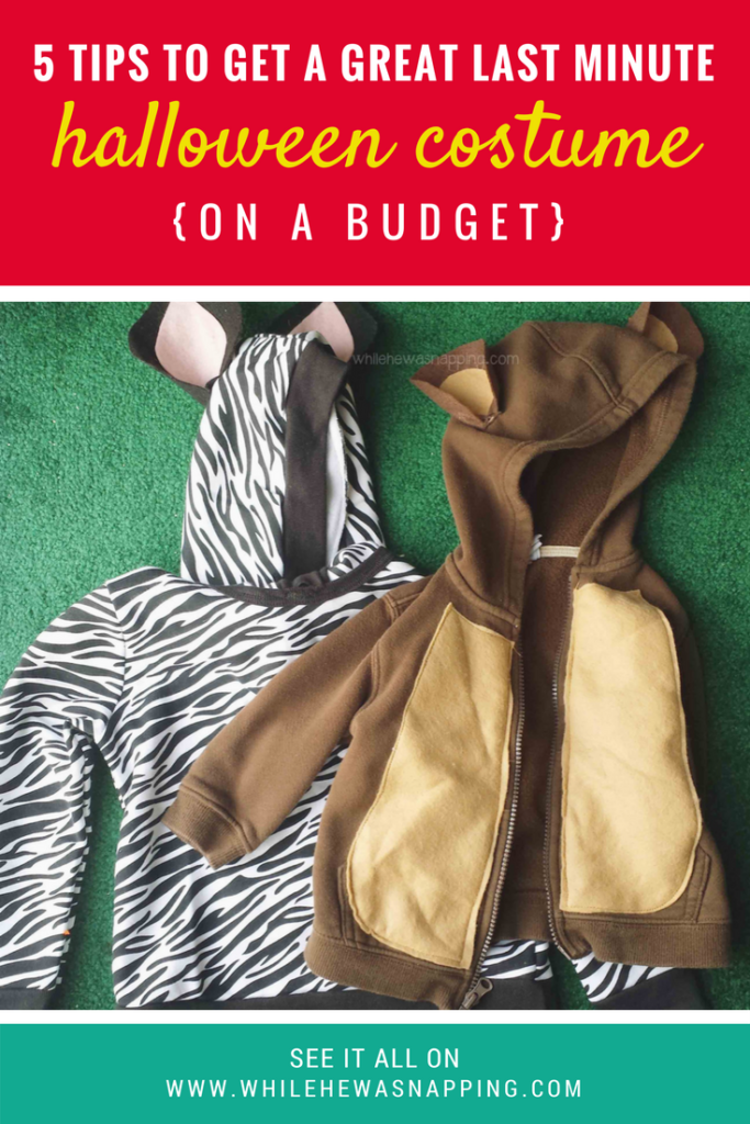 5 Ways to Get a Great Last Minute Halloween Costume {on a Budget}