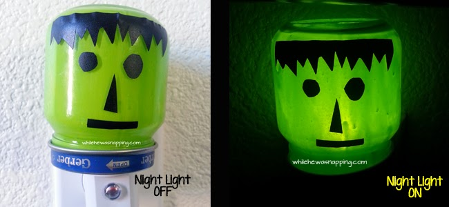 DIY Frankenstein Night Light