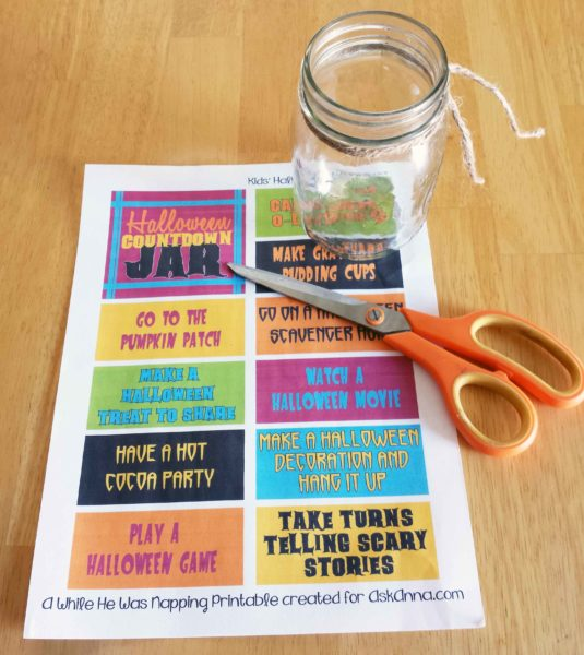 This Halloween Countdown Printable Boredom Jar takes just a few minutes and a handful of materials to put together. You'll have fun ideas to celebrate all October long.