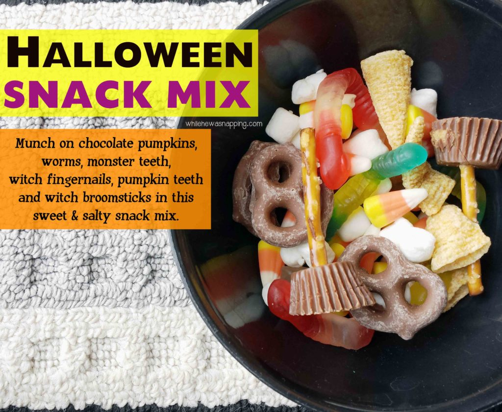 Halloween Snack Mix Featured
