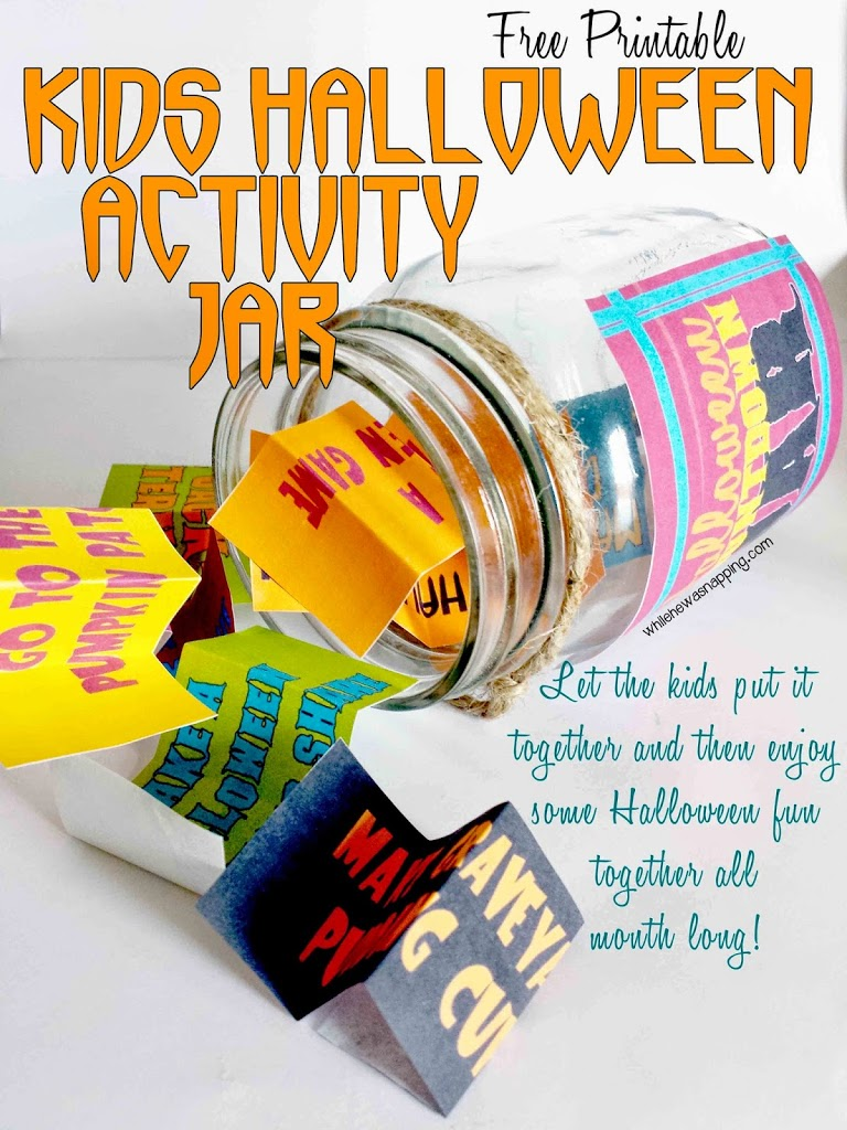 Printable Halloween Countdown Activity Jar