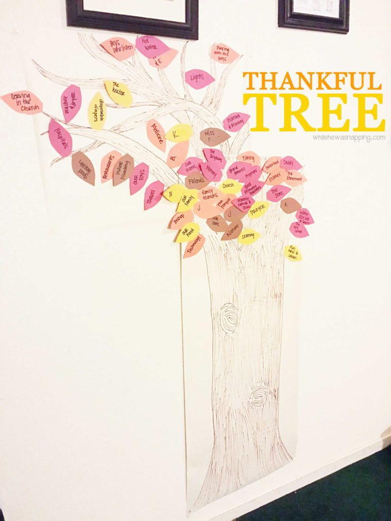 Family Thankful Tree