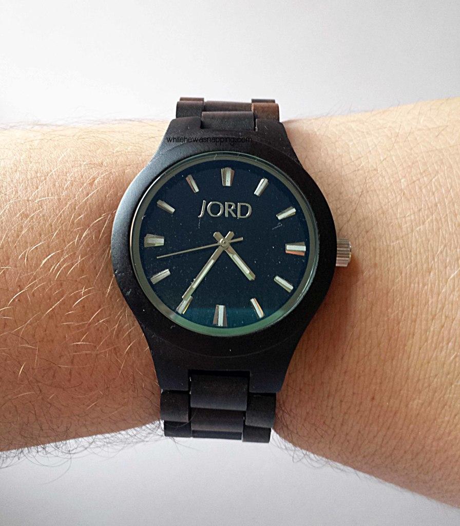 JORD Wood Watch on largel wrist