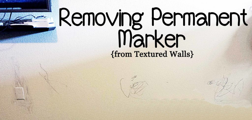Removing Permanent Marker From Textured