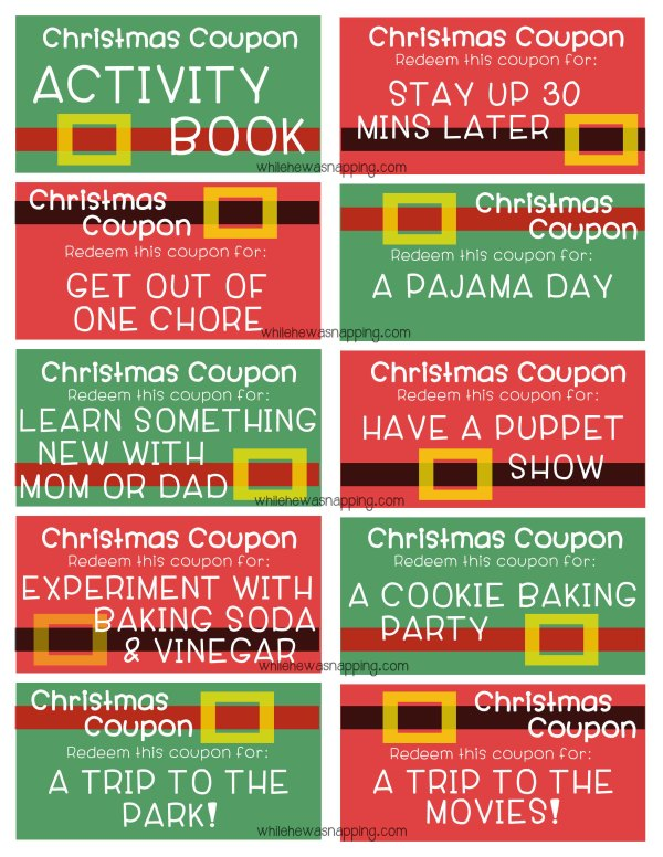 WM Christmas Coupons Page 1